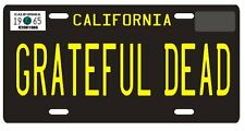 Jerry Garcia The Grateful Dead 1965 CA License Plate