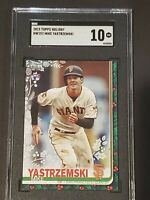 2019 Topps Holiday SGC 10 Mike Yastrzemski RC Rookie