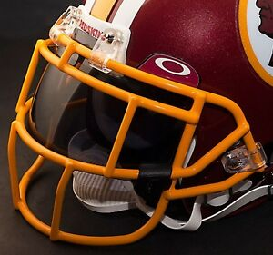 WASHINGTON REDSKINS NFL Schutt EGOP Football Helmet Facemask/Faceguard (YELLOW)
