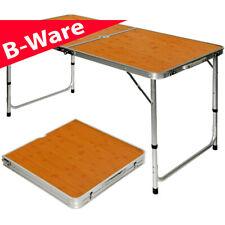 B-Ware Campingtisch ca.120x60cm Bambus Klapptisch Koffertisch Falttisch Tisch