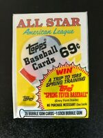 1988 Topps Unopened Cello Pack W/Wade Boggs All-Star on Top