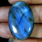 45.90Cts. 100%Natural Labradorite blue Flash Oval Cabochon Gemstone