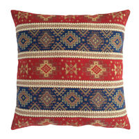 Tapestry Ethnic Kilim Pattern Red Blue 12x20 Lumbar Pillow Cover for Couch Porch