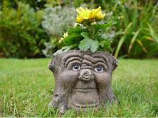 Effetto venature di legno plastica CANNA Fioriera Fioriera Vaso di fiori da giardino patio Nero