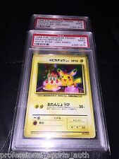 NEW Clam Style Case PSA 9 HAPPY BIRTHDAY PIKACHU Promo 1998 #25 Japanese Pokemon