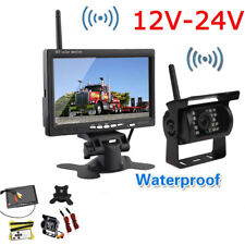 "Rear View Backup Camera System Wireless IR Night Vision 7"" Monitor for RV Truck"