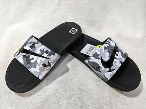 Nike Boy's Kawa Print Grey/Black Slide Sandals (GS/PS)- Asst Size NWB 819358-008