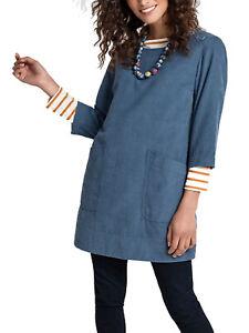 EX Seasalt Cotton Needlecord Wild Bluster Blue Tunic Size 1o RRP £65