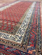 Persian Antique Old Wool&Cotton Handmade Malayer Runner