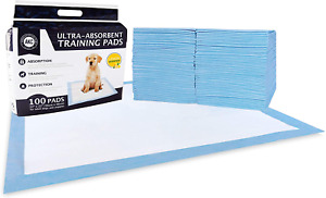 """Pet Training Pads Absorbent Large L Dog Puppy Potty Waterproof 100 Pack 22""""x22"""""""