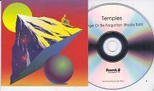 TEMPLES STRANGE OR BE FORGOTTEN RARE 1 TRACK PROMO CD