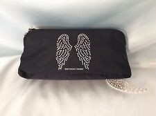 VICTORIA'S SECRET CRYSTAL ANGEL WINGS COSMETIC CASE MAKEUP BAG ORGANIZER ~NWT