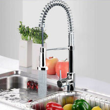 Kitchen Tap Flexible Pull Out Hose Mono Faucet Sink Mixer Chrome Stainless Steel