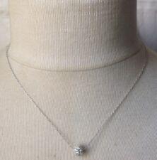 collier chaine rétro couleur argent rhodié perle incrusté cristaux diamant 609
