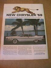 Original 1959 Chrysler Saratoga Magazine Ad - Lion Hearted