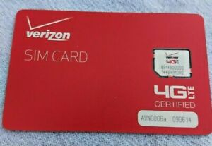 Verizon Wireless Prepaid OR Contract Service 4G LTE Micro SIM Card NFC (NEW!)