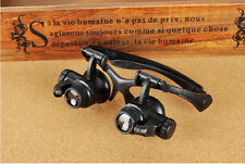 10x 15x 20x 25x Watch Repair Dental Loupes Binocular Glasses Style Magnifier