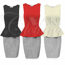 Unbranded Party Striped Sleeveless Dresses for Women