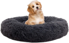 New listing Xzking Donut Bed for Dogs, Dog Calming Bed Cuddler Round Dog Bed Ultra Soft Dog