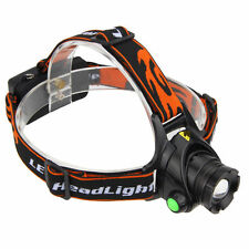 Zoomable 20000LM XM-L T6 LED Headlamp Headlight Lamp Light Switch On Head,3Modes