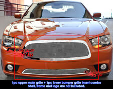 Fits Dodge Charger Stainless Steel Mesh Grill Insert Combo 2011-2014