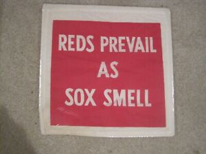 1975 Cincinnati Reds World Series Banner Reds Prevail As Sox Smell