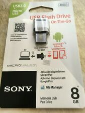 Sony 8GB USB 2.0/Micro USB - MicroVault Flash Drive for PC & Smartphone/Tablet