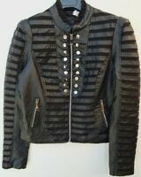 Damen Biker-Lederimitat-Jacke mit elastischem Einsatz SCHWARZ Größen 34 36 38 40