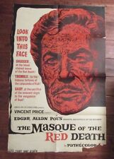 1964 The Masque of the Red Death 1-Sh Movie Poster 27x40 GD+ Vincent Price