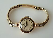 LADIES VINTAGE .375 9CT GOLD CAL.244 OMEGA WRIST WATCH  17g