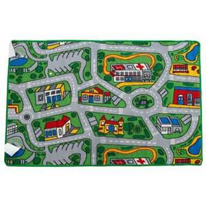 New Children's Rug Activity Play Mat City SUBURBS roads 100cm x 150cm