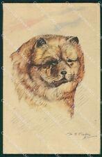 Chow Chow dog Cooper postcard cartolina QT5938
