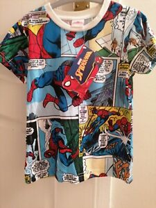 NEW OFFICIAL SPIDERMAN T-SHIRT AGE 4 YEARS WITH TAGS