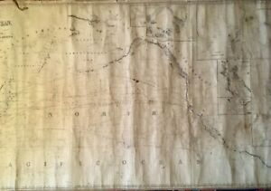 Antique 1852 Blue Back Chart of the North Pacific Ocean by James Imray
