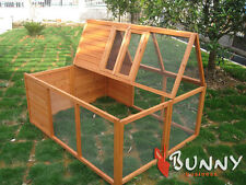 FULLY FOLDING SHELTERED RABBIT / GUINEA  / POULTRY RUN RUNS HUTCH HUTCHES PEN