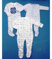 Ex Store Baby Boys Whale Stripe Sleepsuits Babygrow x 1  N/B 3 6 9 12  Next Day