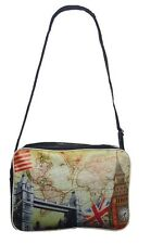 London Souvenir Unisex Mens Women's Shoulder Satchel Bag Gift UK_MAP/CLOCK