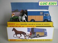 SAVIEM SB2 TRANSPORT DE CHEVAUX #571 BLEU ET ORANGE AU 1/43 PAR DINKY / ATLAS