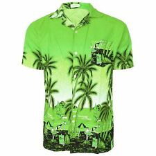 Mens Hawaiian Shirt Stag Do Night Party Fancy Dress Holiday Palm Printed M-4XL