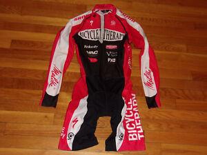 Canari Full Body Padded Bike Long Sleeve Racing Singlet Jersey Mens Medium Exc.