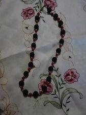 Collana girocollo donna con perle di pietra lavica