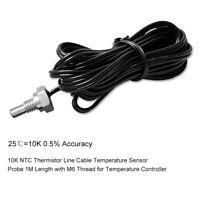 Waterproof Temperature Sensor Temp Probe Thermistor NTC 10K B3435 M6 Thread A2R2