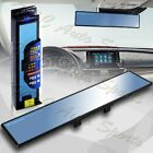 Universal Broadway 360mm Wide Flat Interior Clip On Rear View Blue Tint Mirror