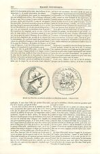 Médaille d'Or d'Eucratide Cabinet des Médailles BNF GRAVURE ANTIQUE PRINT 1870