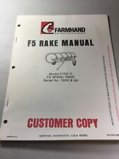 Farmhand F102-C F5 Wheel Rake Manual