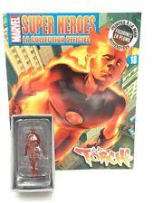 Marvel Figurine Plomb Eaglemoss La Torche N18 + fascicule et boite [Etat Neuf]