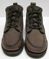 THORNTON BAY WOMEN'S (7) STURDY BROWN LEATHER LACE-UP HIKING HUNTING BOOTS VGUC