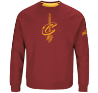 Cleveland Cavaliers Mens Garnet Team Back Up Crew Sweatshirt