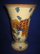 Vintage Gouda Pottery Vase ' Risa ' Handpainted Floral  Royal Zuid-Holland 2786