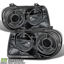 Smoked 2005-2010 Chrysler 300C Projector Headlights Headlamps 05-10 Left+Right